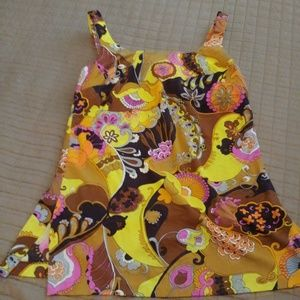 VINTAGE CATALINA 70'S COLORFUL SWIMSUIT